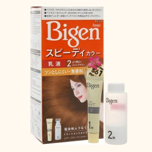Kem nhuộm tóc Bigen Speedy Color Milky 2 nâu sáng