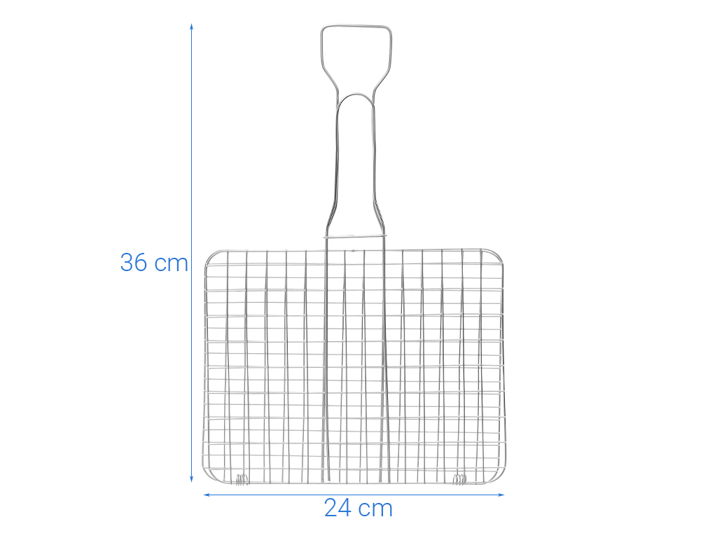 Vỉ nướng kẹp inox Tithafac 35x23cm 6