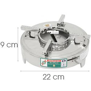 Bếp cồn inox Tithafac 22x9 cm
