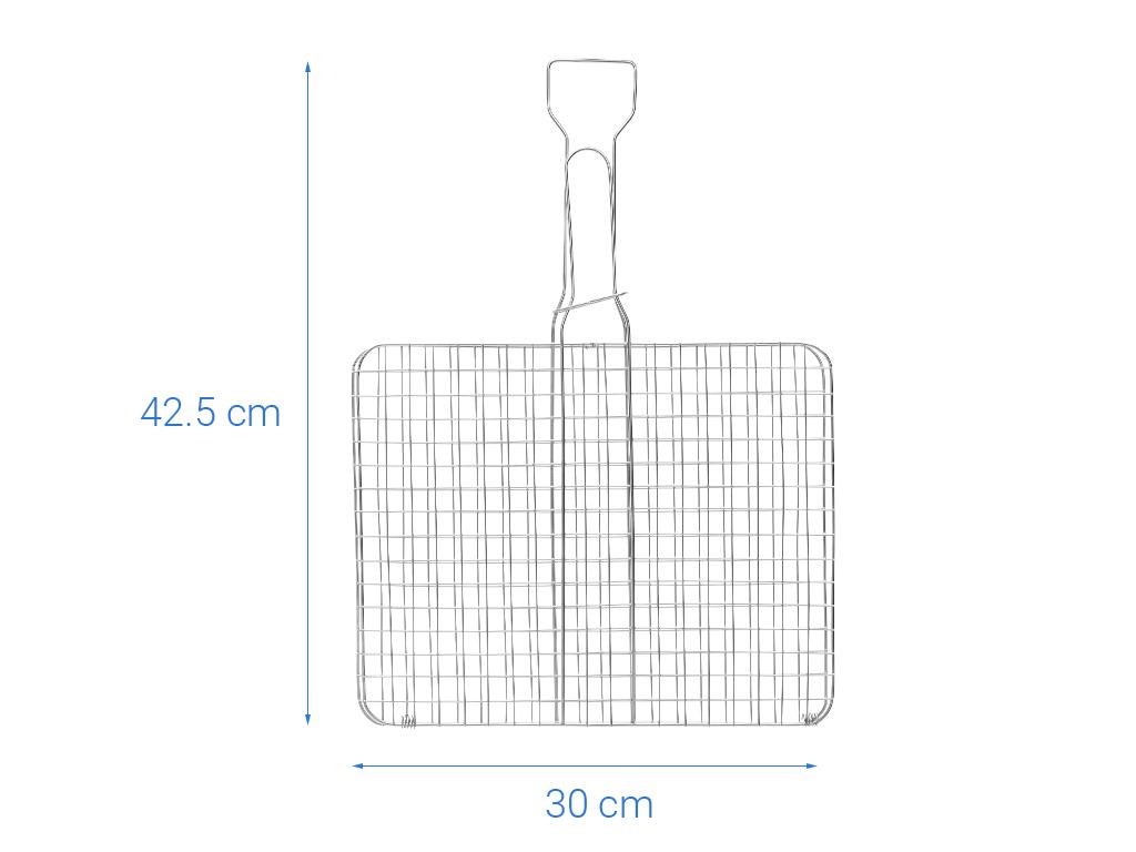 Vỉ nướng than inox Tithafac 42x30cm 6