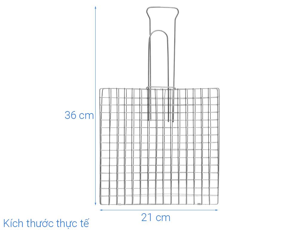 Vỉ nướng kẹp inox Tân Bách Phát 38x21cm 6