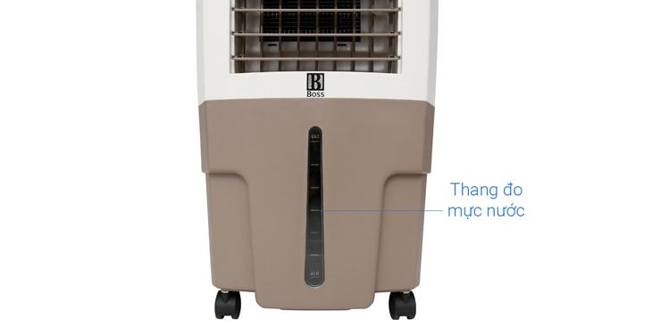 Thang đo mực nước, dễ dàng vệ sinh - Quạt điều hòa không khí Boss S-101