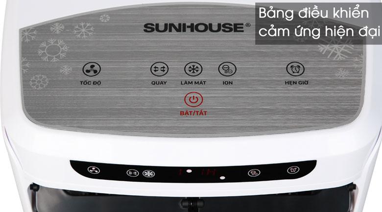 Bảng điều khiển cảm ứng hiện đại có chỉ dẫn tiếng Việt dễ hiểu - Quạt điều hoà Sunhouse SHD7713