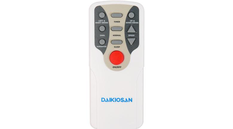 Remote điều khiển từ xa thiết kế nhỏ gọn - Quạt điều hoà Daikiosan DKA-01500B