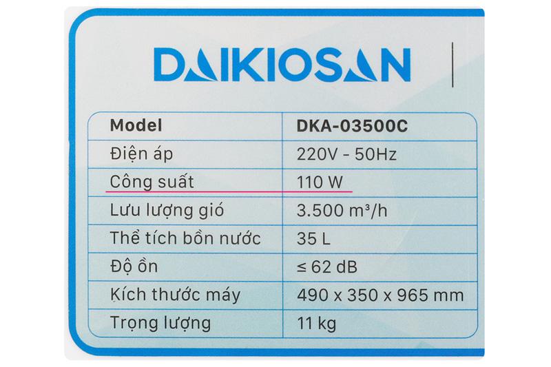 Làm mát tốt - Quạt điều hoà Daikiosan DKA-03500C