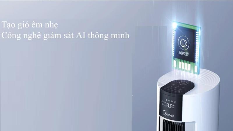 Công nghệ AI thông minh - Quạt điều hòa Midea AC120-18AR