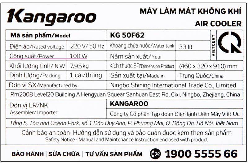 Làm mát tốt - Quạt điều hoà Kangaroo KG50F62