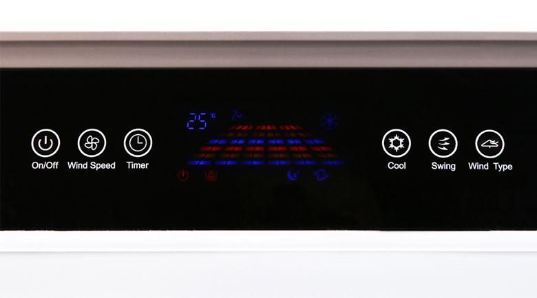 Trang bị bảng điều khiển cảm ứng hiện đại - Quạt điều hoà Kangaroo KG50F69