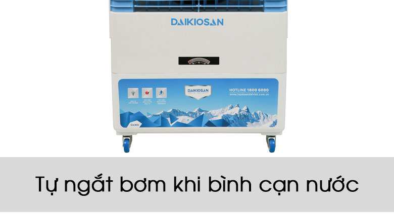 An toàn khi sử dụng với tính năng tự ngắt bơm khi bình cạn nước - Quạt điều hoà Daikiosan DKA-06000B
