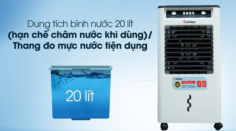 Bình chứa nước lớn - Quạt điều hòa không khí Rapido 3000M