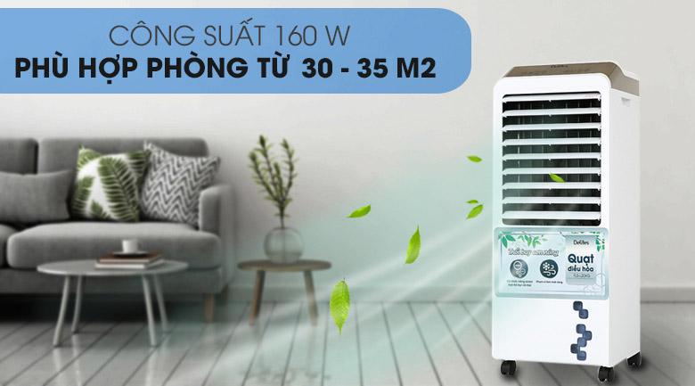 Công suất 160W - Quạt điều hòa Delites FLS-L20KG