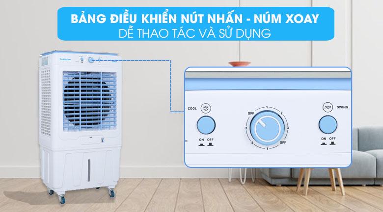 Bảng điều khiển dễ dùng - Quạt điều hòa không khí Daikiosan DKA-05000G