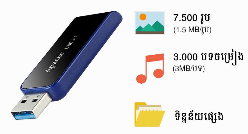 USB 3.1 16 GB Apacer AH356