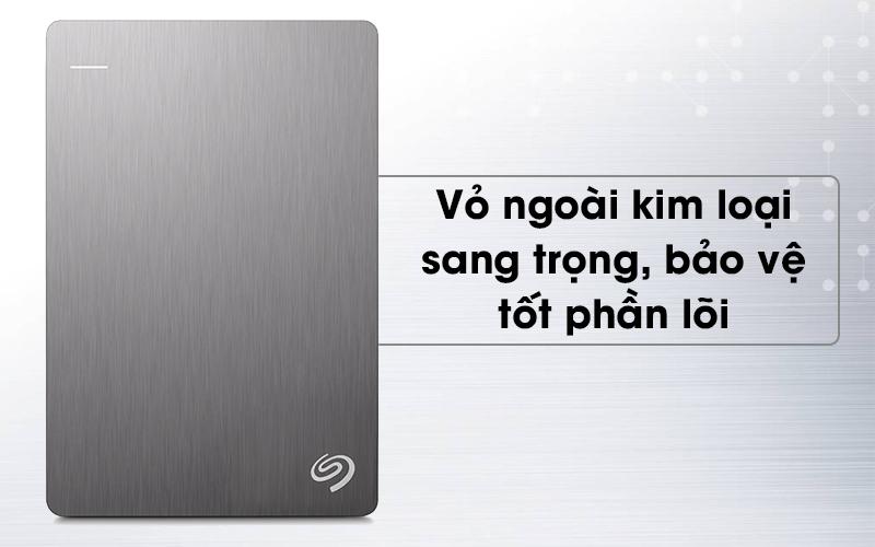 Ổ cứng HDD 1TB Seagate Backup Plus Slim Bạc có vỏ ngoài cứng cáp