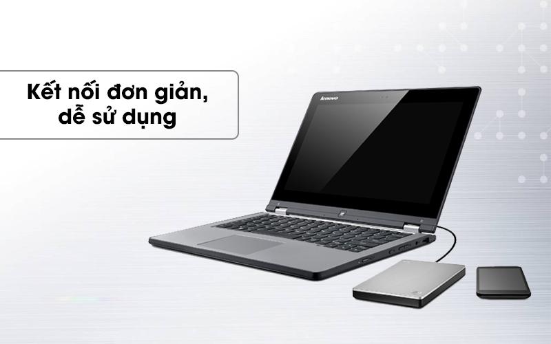 Ổ cứng HDD 1TB Seagate Backup Plus Slim Bạc dễ dàng kết nối