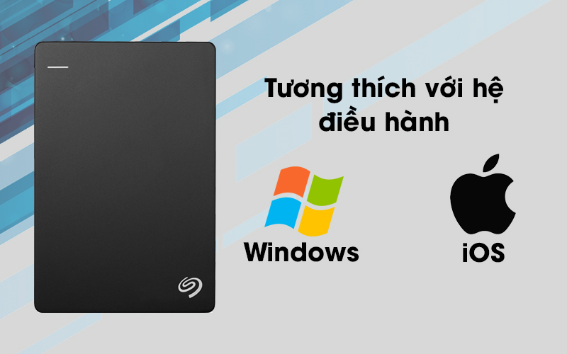 Ổ cứng di động Seagate Backup Plus Slim 1TB tương thích với nhiều hệ điều hành