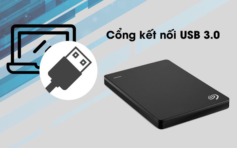 Ổ cứng di động Seagate Backup Plus Slim 1TB trang bị cổng kết nối USB 3.0