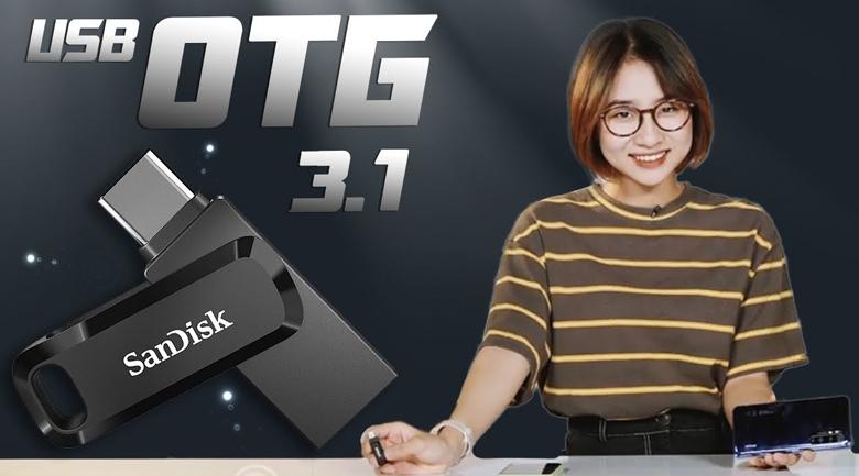 USB OTG 3.1 32GB Type C Sandisk SDDDC3 Đen