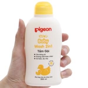 Tắm gội cho bé Pigeon 2 trong 1 hoa hướng dương 200ml
