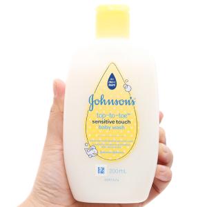 Sữa tắm gội toàn thân Johnson's Baby cho da nhạy cảm 200ml