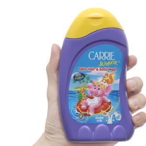 Tắm gội cho bé Carrie Junior tinh chất sữa 280g