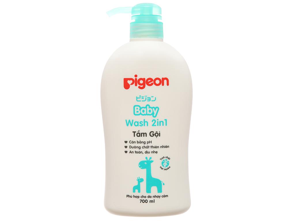 Tắm gội cho bé Pigeon 2 trong 1 chiết xuất Jojoba 700ml 2