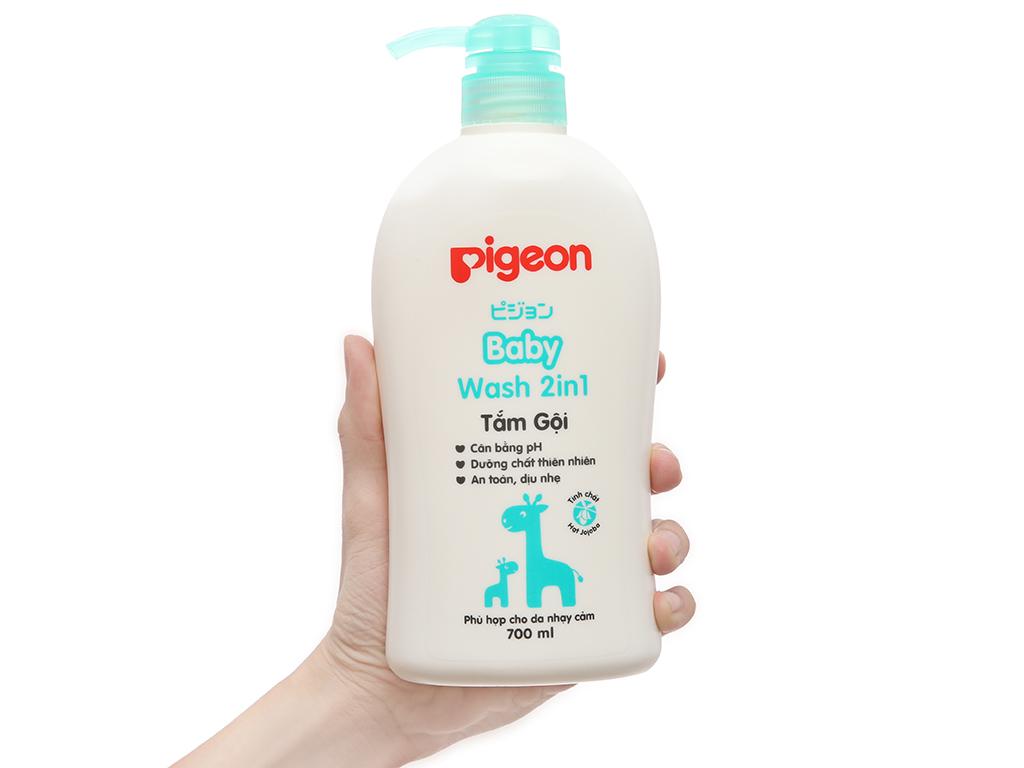 Tắm gội cho bé Pigeon 2 trong 1 chiết xuất Jojoba 700ml 4