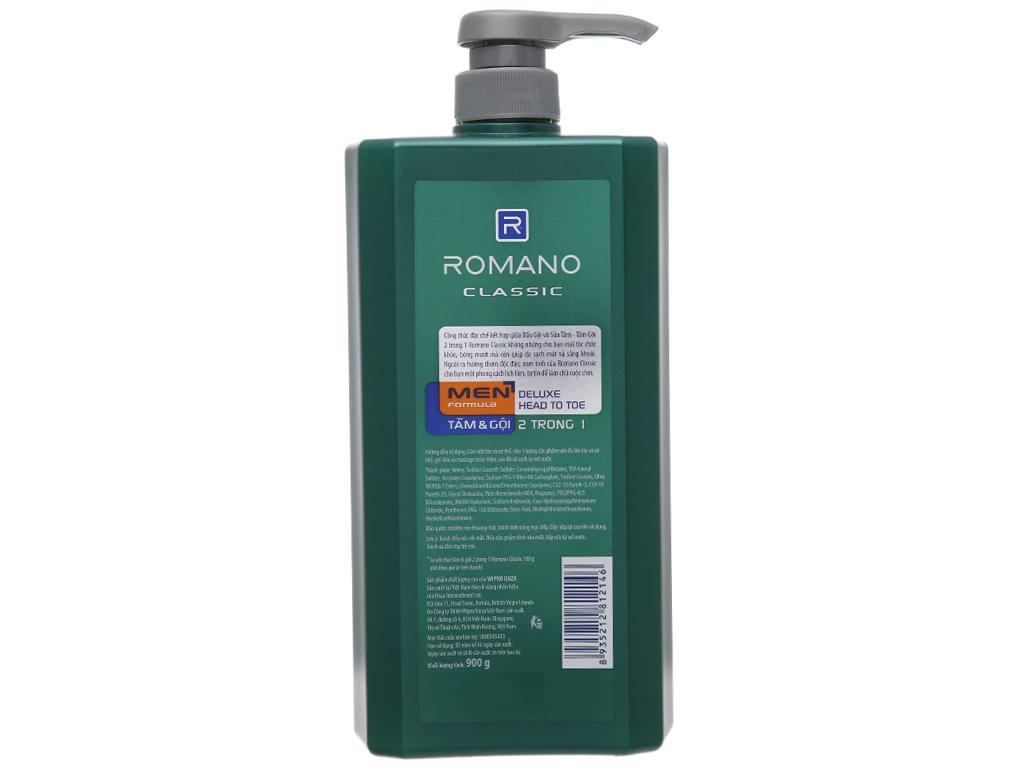 Tắm gội Romano Classic 900g 3