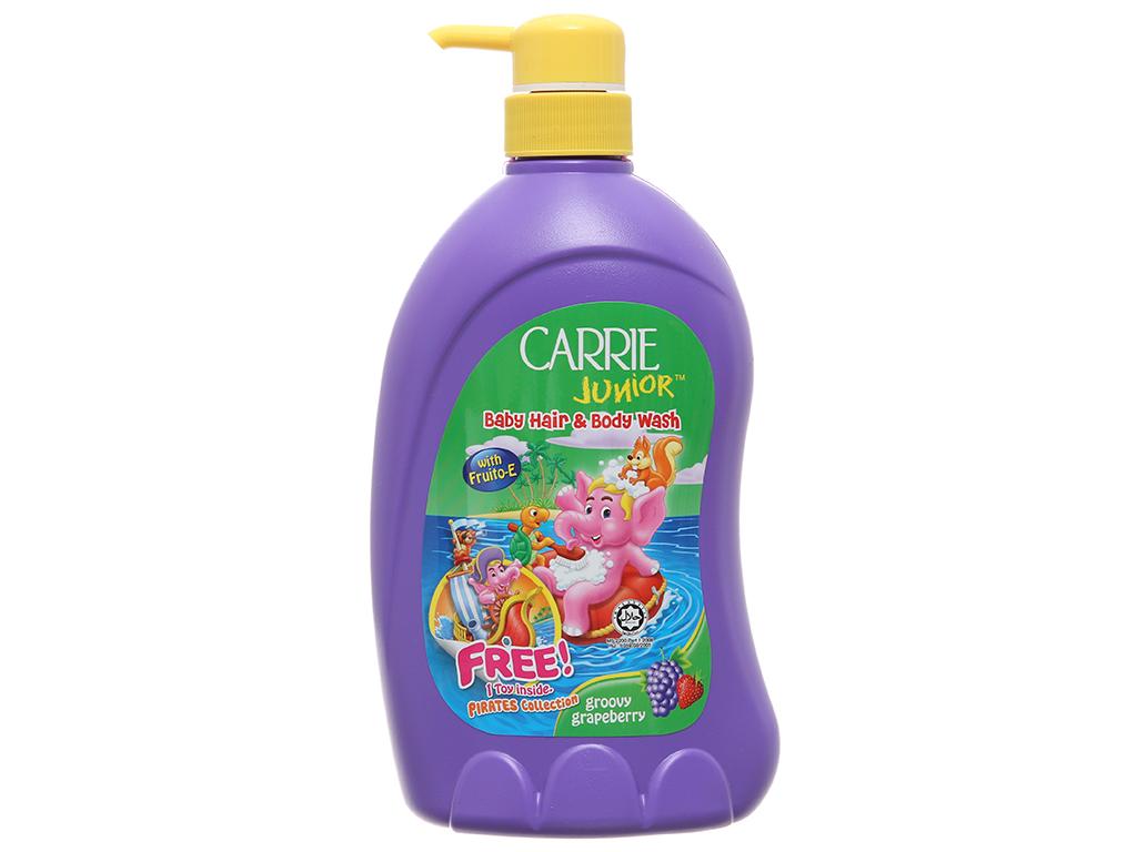 Tắm gội toàn thân cho bé Carrie Junior Grapeberry 700g 2