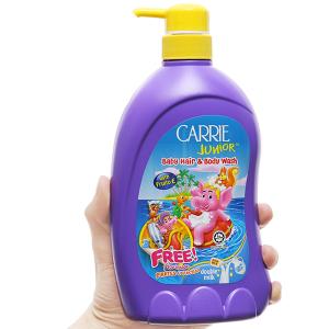 Tắm gội cho bé Carrie Junior tinh chất sữa 700g