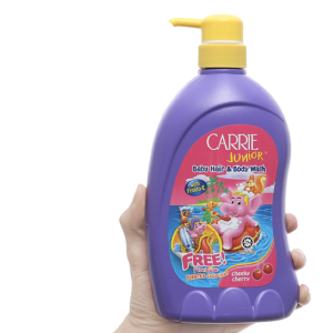 Tắm gội cho bé Carrie Junior Cherry 700g
