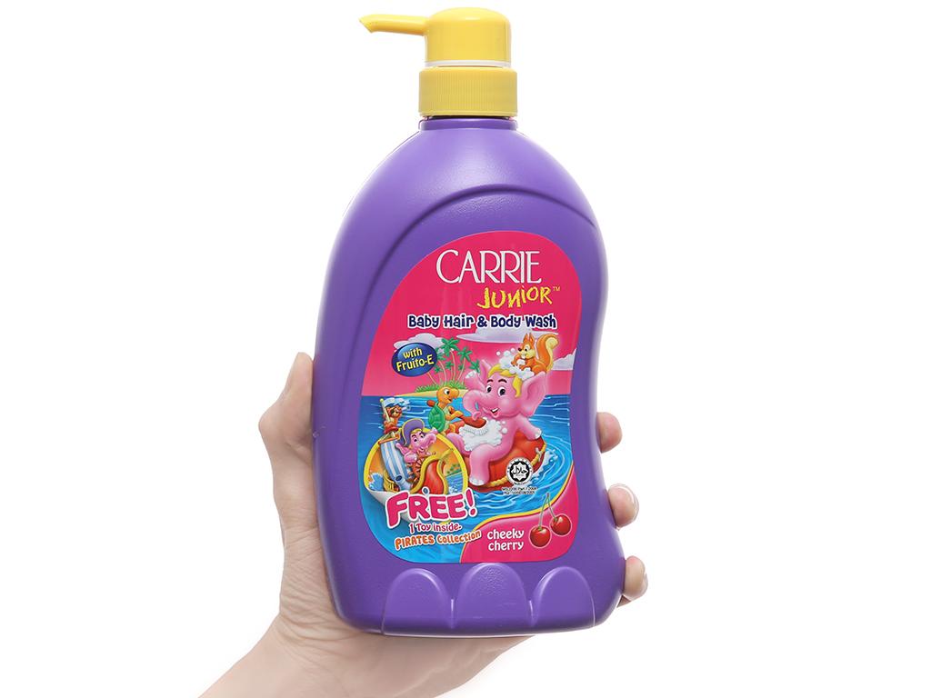 Tắm gội cho bé Carrie Junior Cherry 700g 4