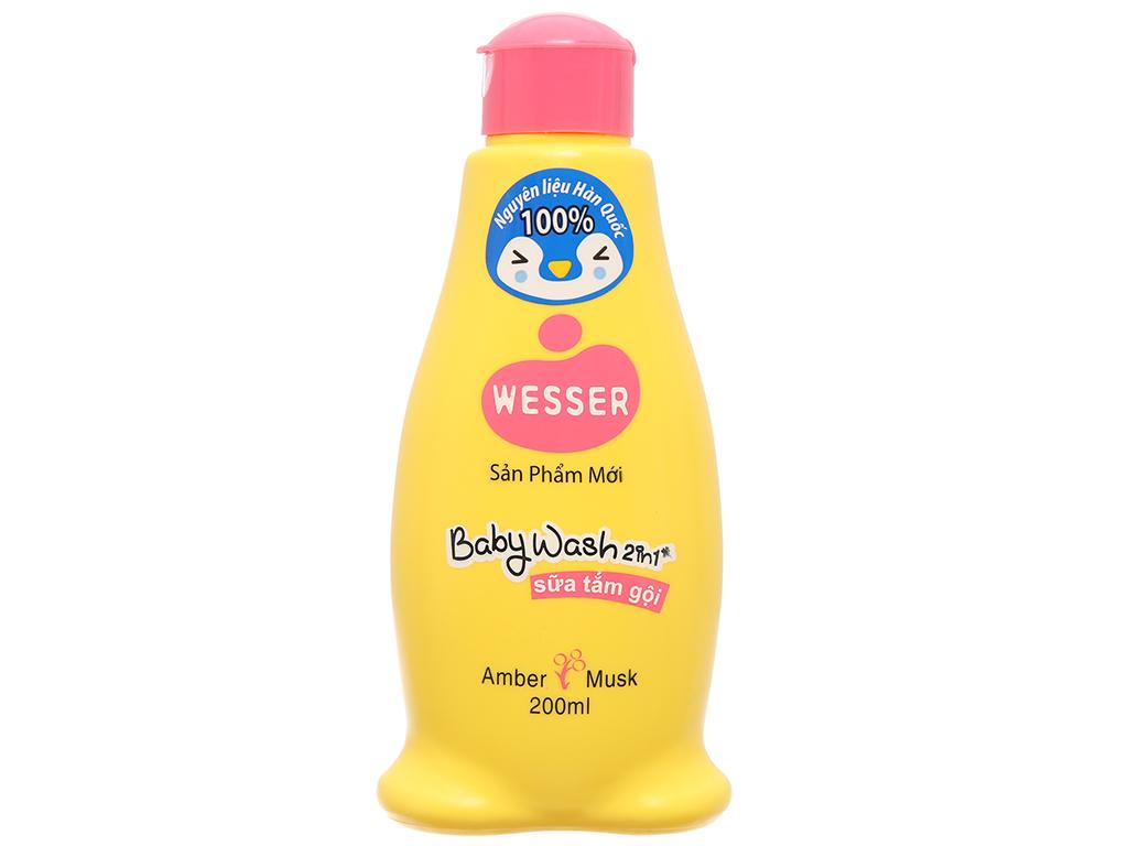 Sữa tắm gội cho bé Wesser hổ phách xạ hương 200ml 2
