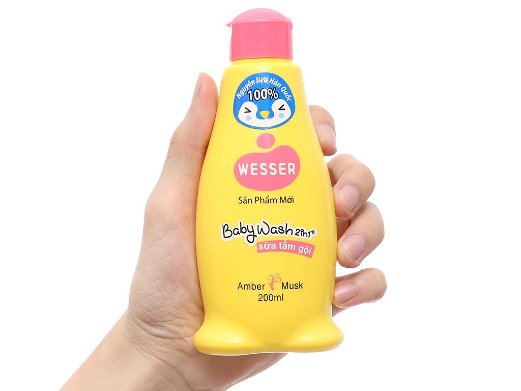 Sữa tắm gội cho bé Wesser hổ phách xạ hương 200ml 4
