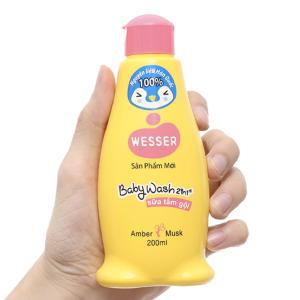 Sữa tắm gội cho bé Wesser hổ phách xạ hương 200ml