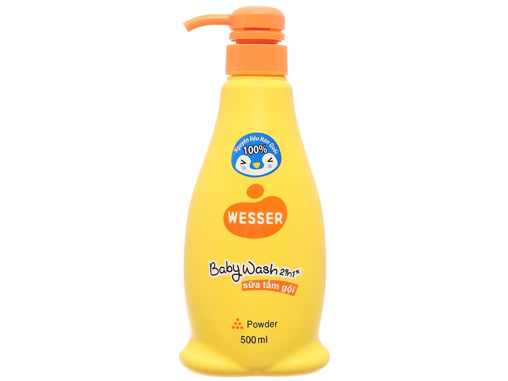 Sữa tắm gội cho bé Wesser Powder 500ml 2