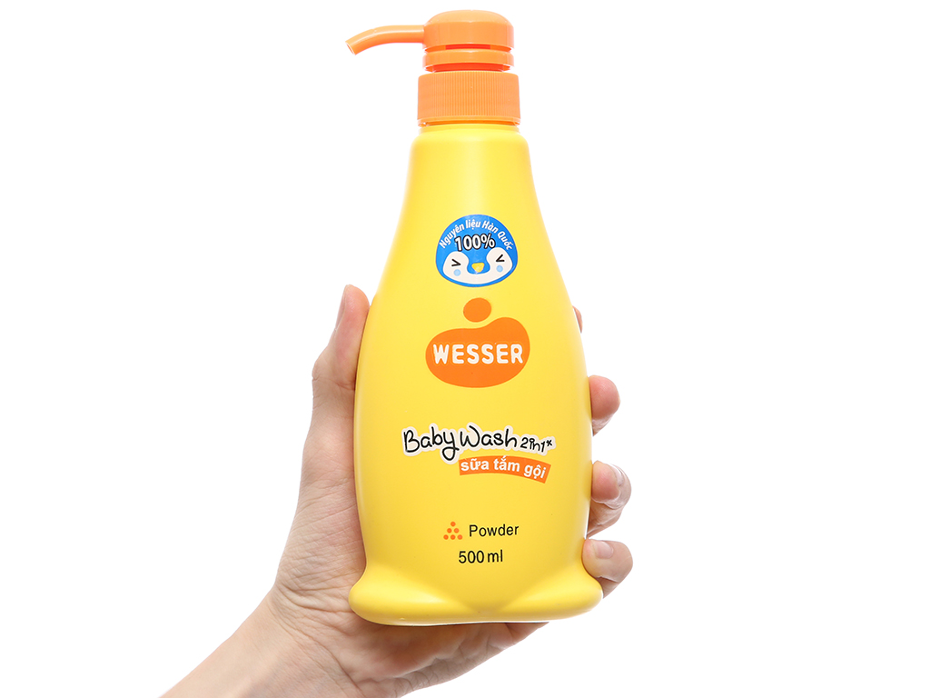 Sữa tắm gội cho bé Wesser Powder 500ml 4