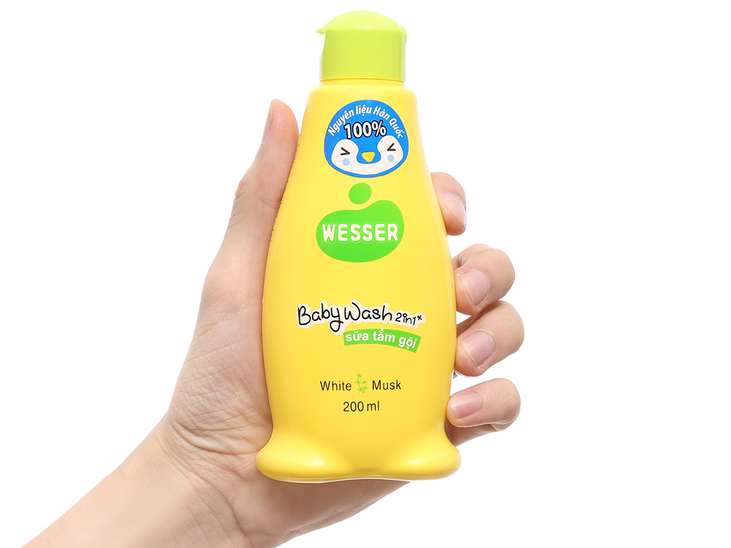 Sữa tắm gội cho bé Wesser cỏ xạ hương 200ml 4