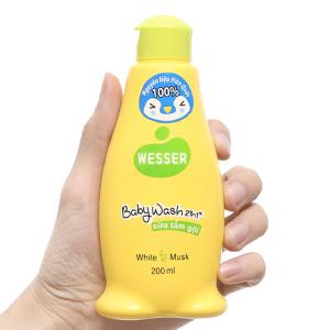 Sữa tắm gội cho bé Wesser cỏ xạ hương 200ml