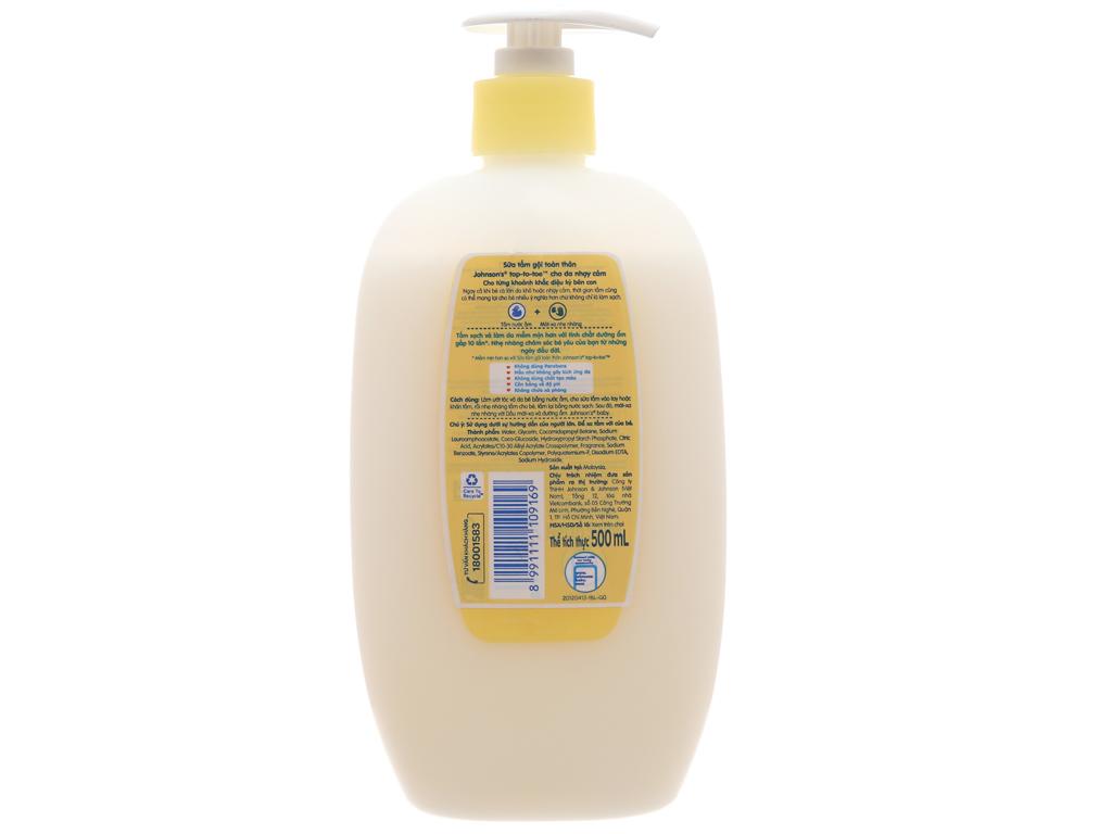 Sữa tắm gội toàn thân Johnson's Baby cho da nhạy cảm 500ml 2