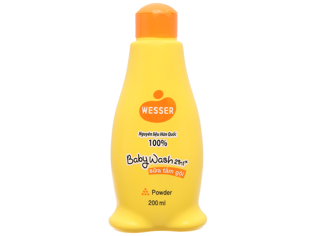 Sữa tắm gội cho bé Wesser Powder 200ml 2