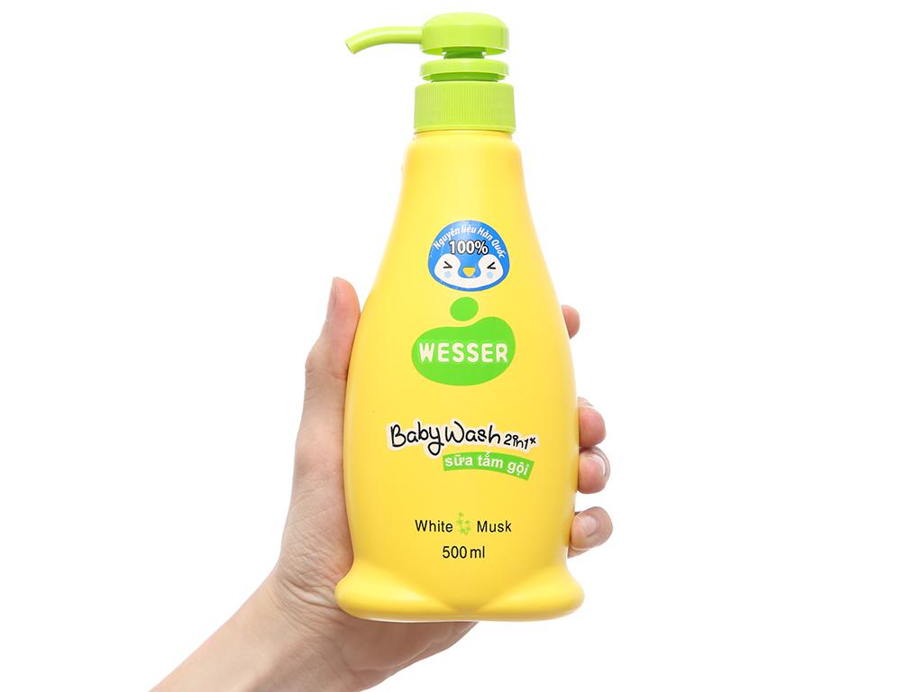Tắm gội cho bé Wesser cỏ xạ hương 500ml 4