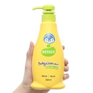 Sữa tắm gội cho bé Wesser cỏ xạ hương 500ml