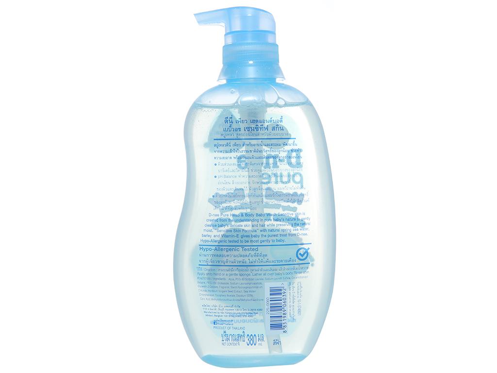 Tắm gội cho bé D-nee Pure xanh 380ml 2