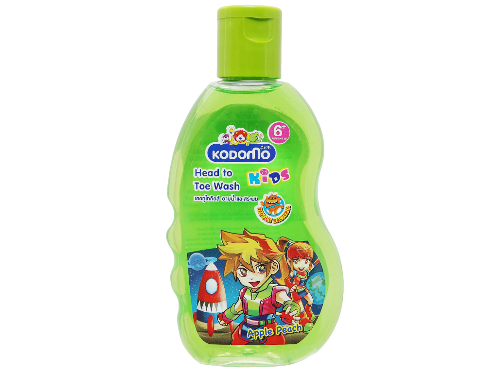 Dầu tắm gội cho bé Kodomo Apple Peach 200ml 1