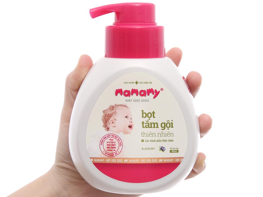 Bọt tắm gội cho bé Mamamy Blueberry 400ml 3