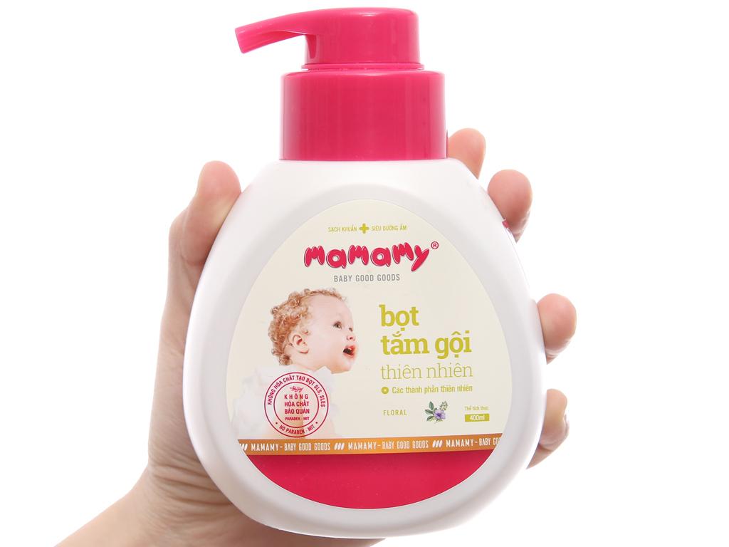 Bọt tắm gội cho bé Mamamy floral 400ml 3
