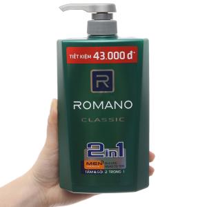 Tắm gội nước hoa Romano Classic 650g