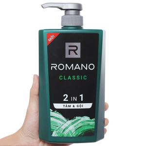 Tắm gội Romano Classic nước hoa 650g
