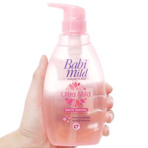 Sữa tắm gội trẻ em Babi Mild Sakura 400ml